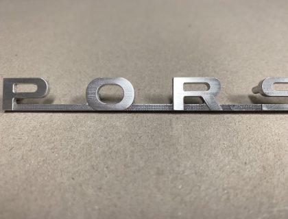 Porsche 356 Pre-A Aluminum Script